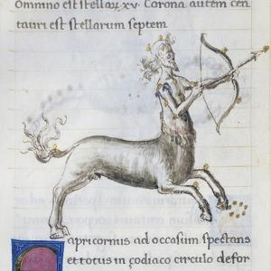 Sagittarius, Miniature from De Astronomia, by Hyginus, Ms, Aldini 490, F 90 V, Italy, 15th Century