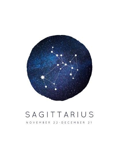 Sagittarius Zodiac Constellation-Kindred Sol Collective-Art Print