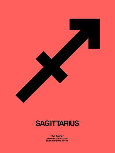 Sagittarius Zodiac Sign Black-NaxArt-Art Print