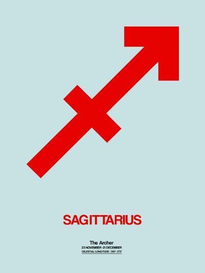 Sagittarius Zodiac Sign Red-NaxArt-Art Print