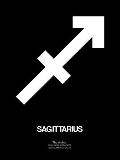 Sagittarius Zodiac Sign White-NaxArt-Art Print