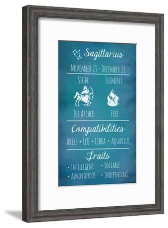 Sagittarius Zodiac Sign-Veruca Salt-Framed Art Print