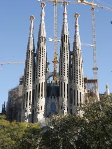 Sagrada Familia Towers and Spires, UNESCO World Heritage Site, Barcelona, Catalonia, Spain, Europe
