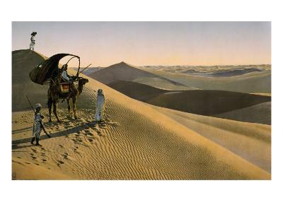 Sahara desert, Egypt, Late 19th - Early 20th century--Giclee Print