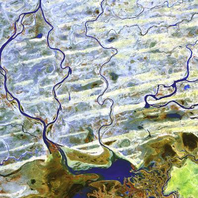 Saharan Desert Rivers, Satellite Image--Photographic Print