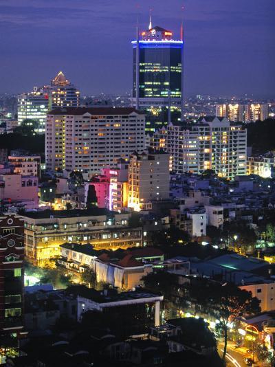Saigon City, Ho Chi Minh City, Vietnam-Walter Bibikow-Photographic Print