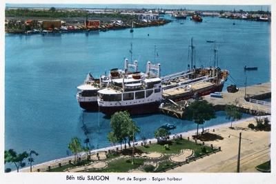 Saigon Harbour, French Indochina (Vietna), 20th Century--Giclee Print
