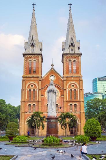 Saigon Notre-Dame Basilica Cathedral, Ho Chi Minh City (Saigon), Vietnam, Indochina, Southeast Asia-Jason Langley-Photographic Print