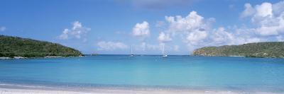 Sail Boats in the Sea, Saltpond Bay, St. John, US Virgin Islands--Photographic Print