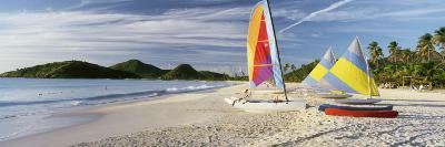Sail Boats on the Beach, Antigua, Caribbean Islands--Photographic Print