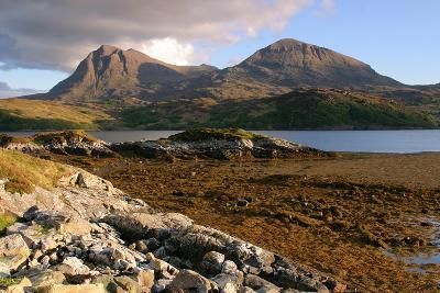 Sail Gharbh and Sail Gorm, Quinag, Highland, Scotland-Peter Thompson-Photographic Print