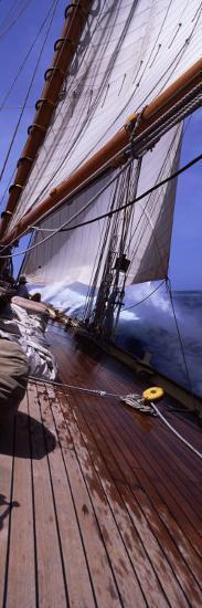 Sailboat in the Sea, Antigua, Antigua and Barbuda--Photographic Print