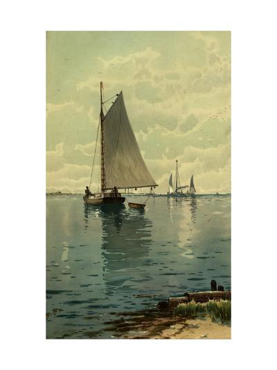 Sailboat Painting--Art Print