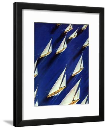 """Sailboat Regatta,"" June 29, 1940-Ski Weld-Framed Giclee Print"