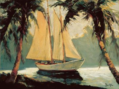 Sailboat, Santa Barbara-Frederick Alexander Pawla-Art Print