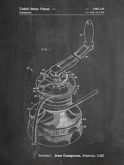 Sailboat Winch Patent-Cole Borders-Art Print