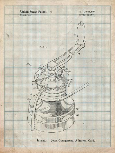 Sailboat Winch Patent-Cole Borders-Art Print