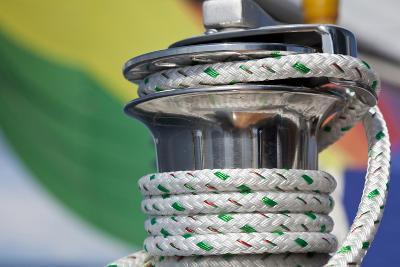 Sailboat Winch with Coiled Rope, San Juan Islands, Washington, USA-Jaynes Gallery-Photographic Print