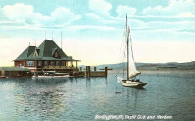 Sailboat, Yacht Club, Burlington, Vermont
