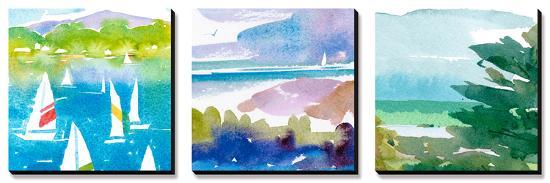 sailboats-and-lake-i-triptych