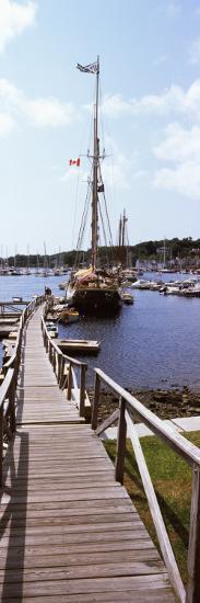 Sailboats at a Harbor, Camden, Knox County, Maine, USA--Photographic Print