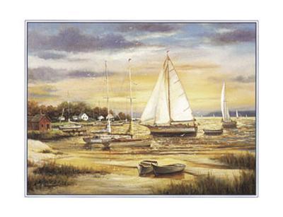Sailboats at the Shore-T^ C^ Chiu-Art Print