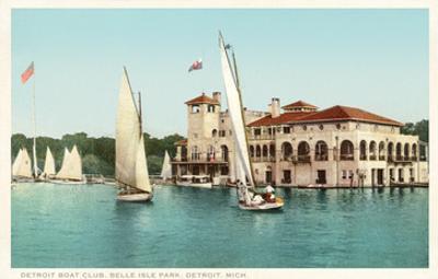Sailboats, Belle Isle, Detroit, Michigan