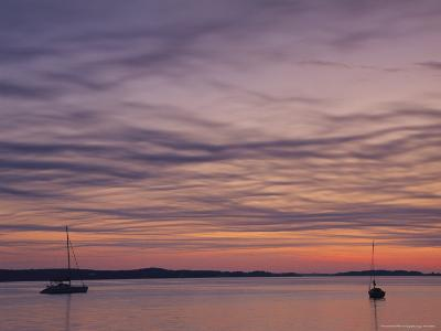 Sailboats Float on Pleasant Bay in Chatham-Michael Melford-Photographic Print