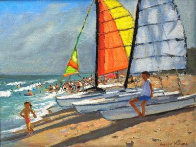 Sailboats, Garrucha, Spain-Andrew Macara-Giclee Print