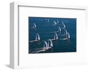Sailboats in Swan Nyyc Invitational Regatta, Newport, Rhode Island, USA