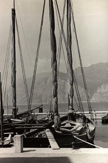 Sailboats in the Harbour of Malcesine-Otto Zenker-Photographic Print