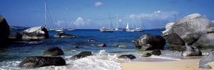 Sailboats in the Sea, the Baths, Virgin Gorda, British Virgin Islands