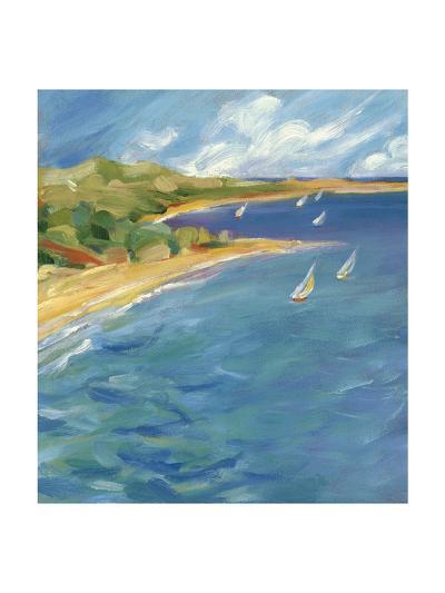 Sailboats Near the Coast--Art Print