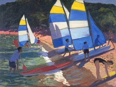 Sailboats, South of France, 1995-Andrew Macara-Giclee Print