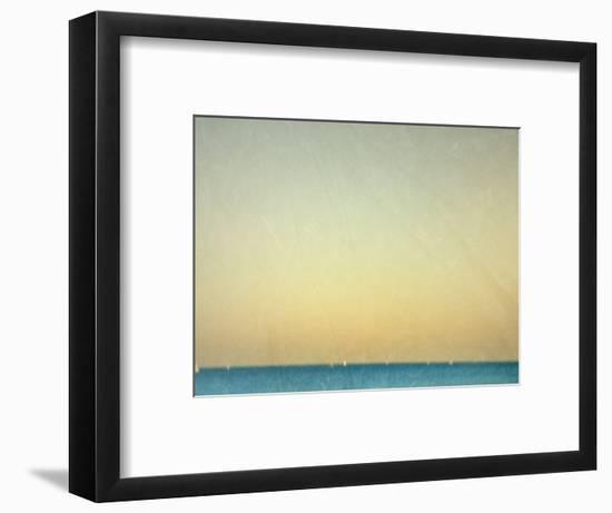 Sailboats under Pearl Sky-Robert Cattan-Framed Photographic Print