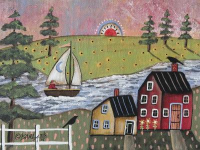 Sailing 1-Karla Gerard-Giclee Print