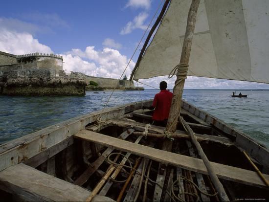 Sailing Around Fort Sebastian, Mozambique-James L^ Stanfield-Photographic Print