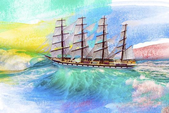 Sailing Away 4-Ata Alishahi-Giclee Print