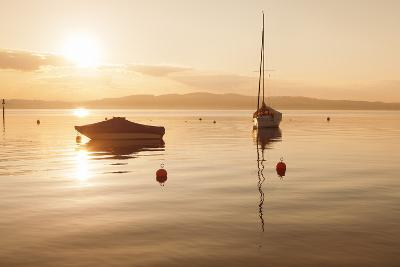 Sailing Boat at Sunset, Lake Constance, Near Konstanz, Baden-Wurttemberg, Germany, Europe-Markus Lange-Photographic Print
