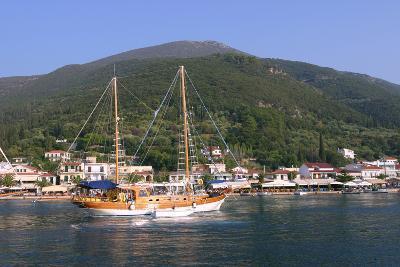 Sailing Boat Off Sami, Kefalonia, Greece-Peter Thompson-Photographic Print
