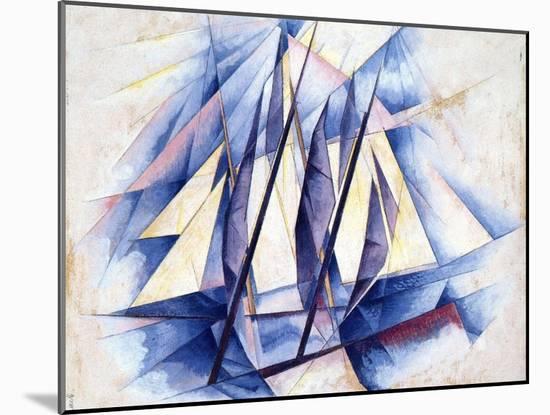 Sailing Boats, 1919-Charles Demuth-Mounted Giclee Print