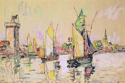 Sailing Boats at Les Sables-D'Olonne-Paul Signac-Giclee Print