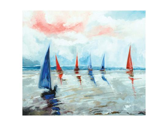 Sailing Boats Regatta-Stuart Roy-Art Print