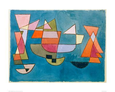 Sailing Boats-Paul Klee-Giclee Print