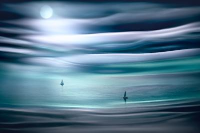 Sailing by Moonlight-Ursula Abresch-Photographic Print
