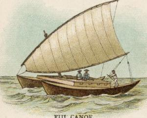 Sailing Catamaran Canoe Used in Fiji