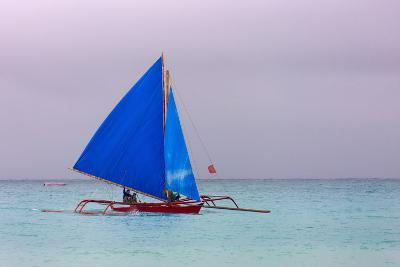 Sailing in the Ocean, Boracay Island, Aklan Province, Philippines-Keren Su-Photographic Print