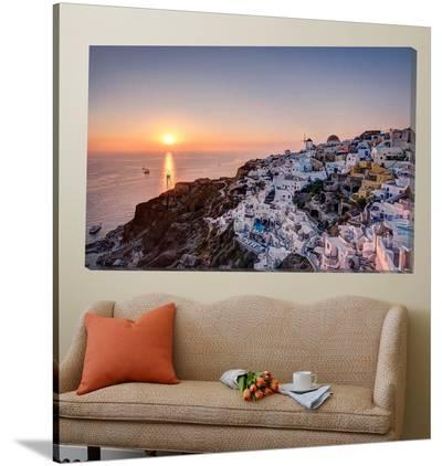 Sailing into the sunset, Oia, Greece-Nick Jackson-Loft Art