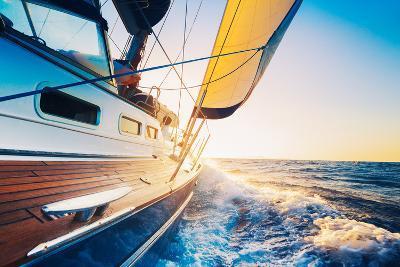Sailing into the Sunset-EpicStockMedia-Photographic Print