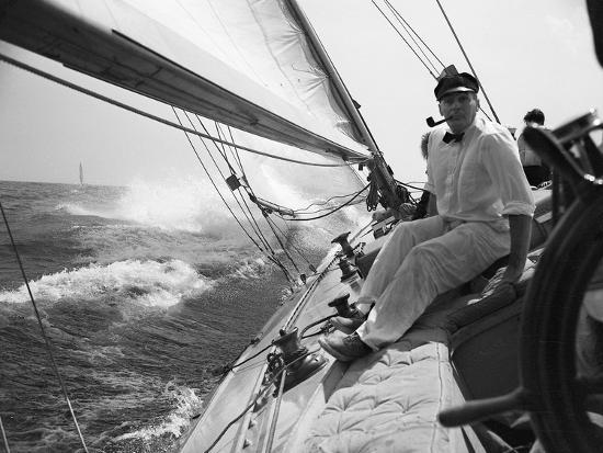 Sailing on Lake Michigan--Photographic Print
